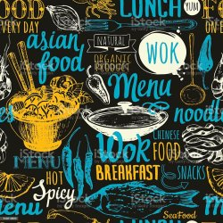 food menu background street vector asian pattern illustration seamless chinese backgrounds culture labels asia vectors markings animal collection