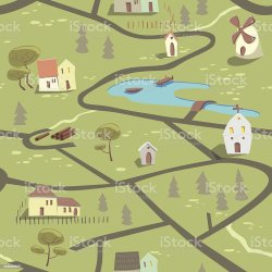 29 Cartoon Map Seamless Pattern Of Town And Countryside Illustrations Royalty Free Vector Graphics & Clip Art iStock