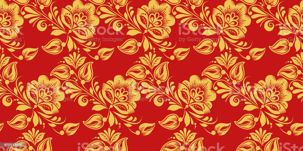 seamless pattern russian traditional