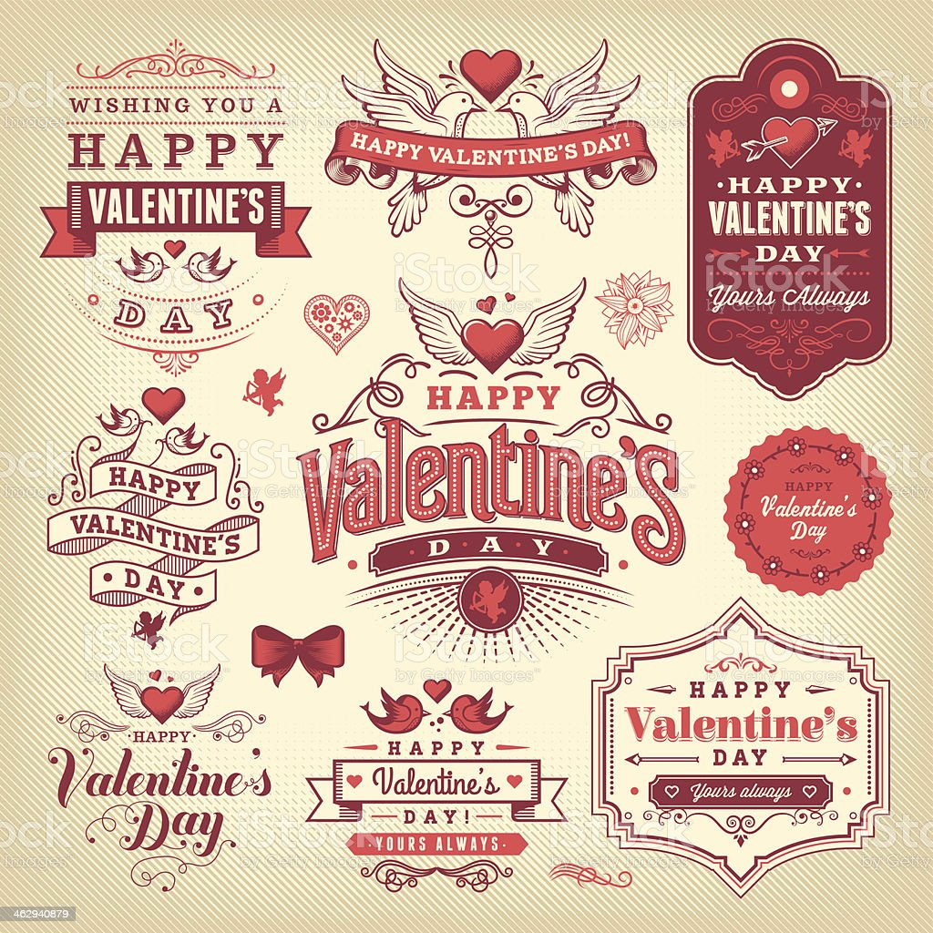 hight resolution of a selection of valentines day labels royalty free a selection of valentines day labels stock