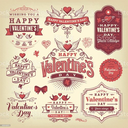 small resolution of a selection of valentines day labels royalty free a selection of valentines day labels stock