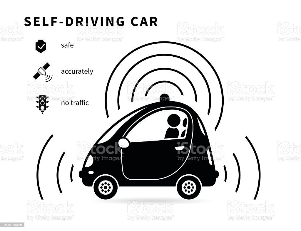 Selfdriving Car Black Icon Stock Vector Art & More Images