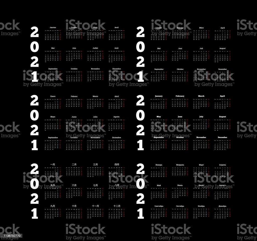set of 2021 year