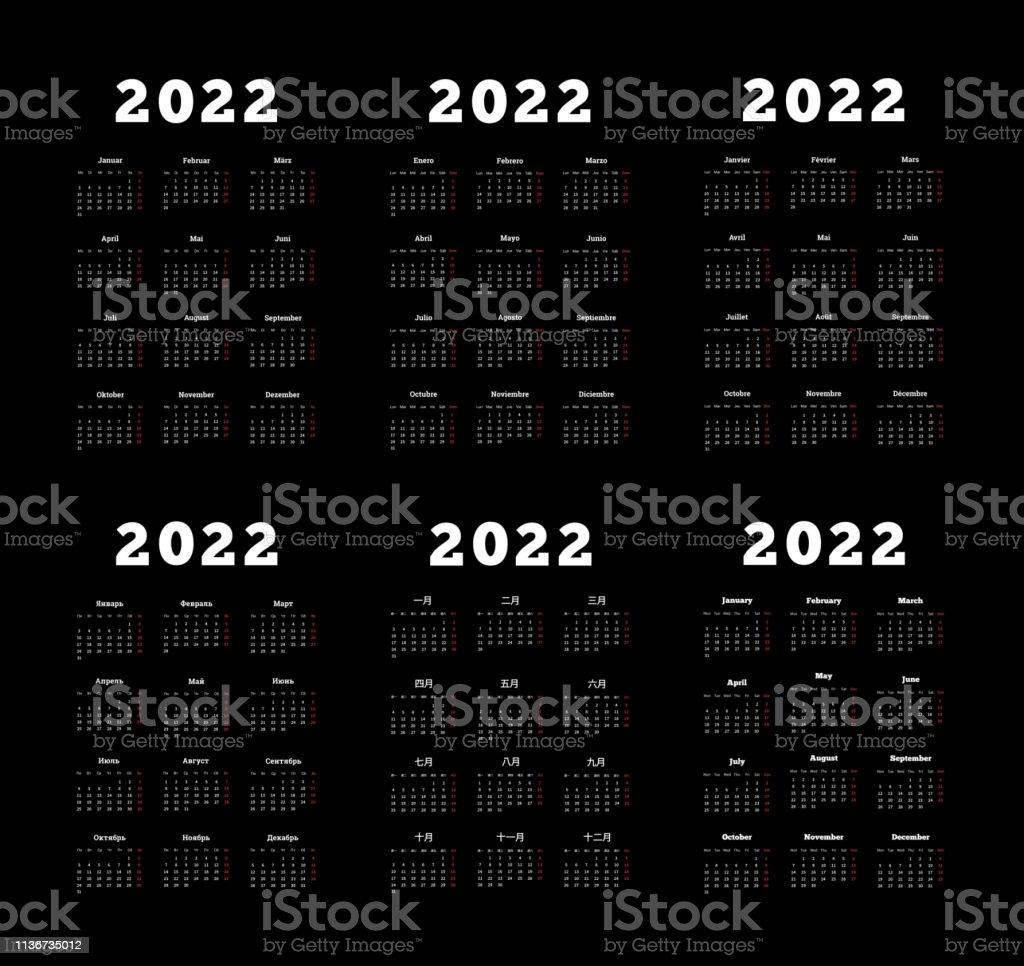 set of 2022 year