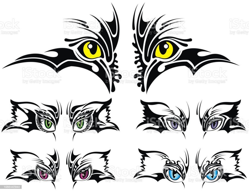 Ilustración De Juego De Ojos De Animales Diseño De Tatuaje Y Más