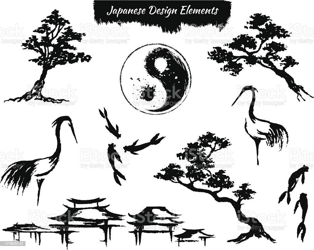 Set Of Asian Design Elements Stock Vector Art & More