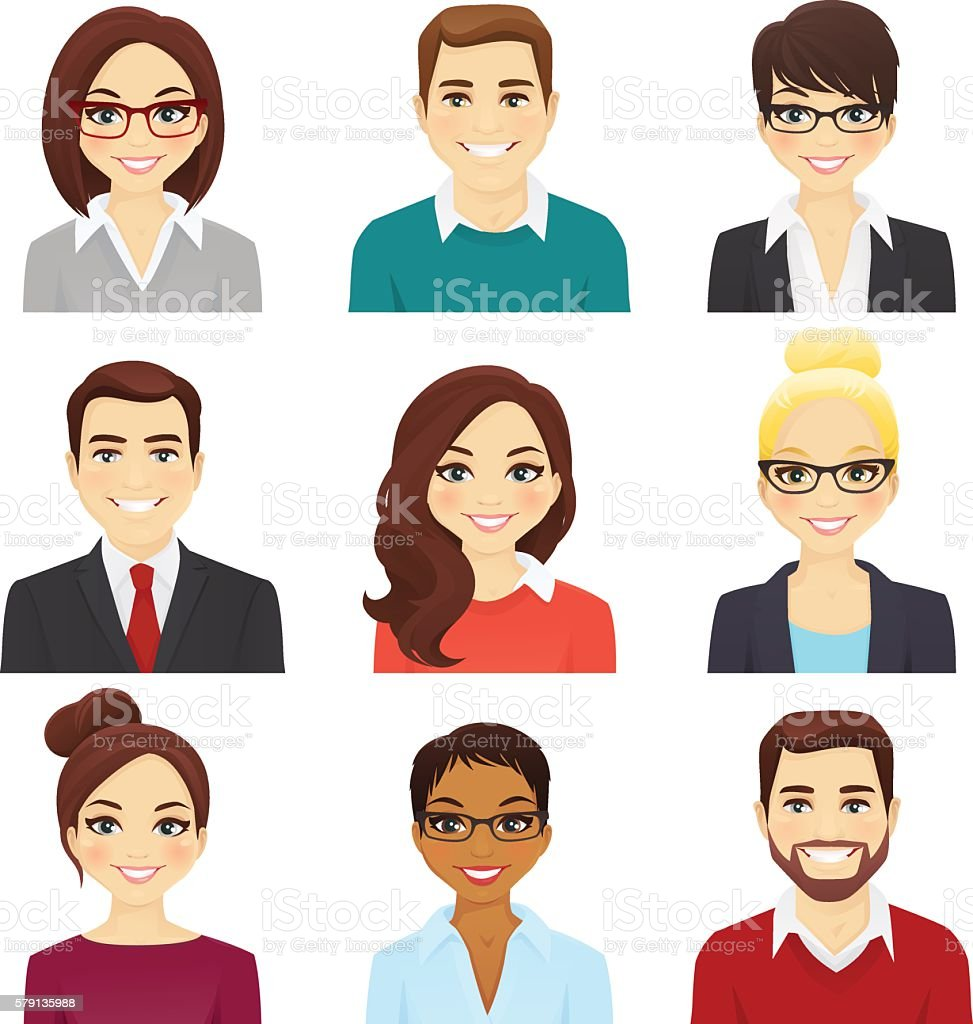 Royalty Free Human Face Clip Art Vector Images