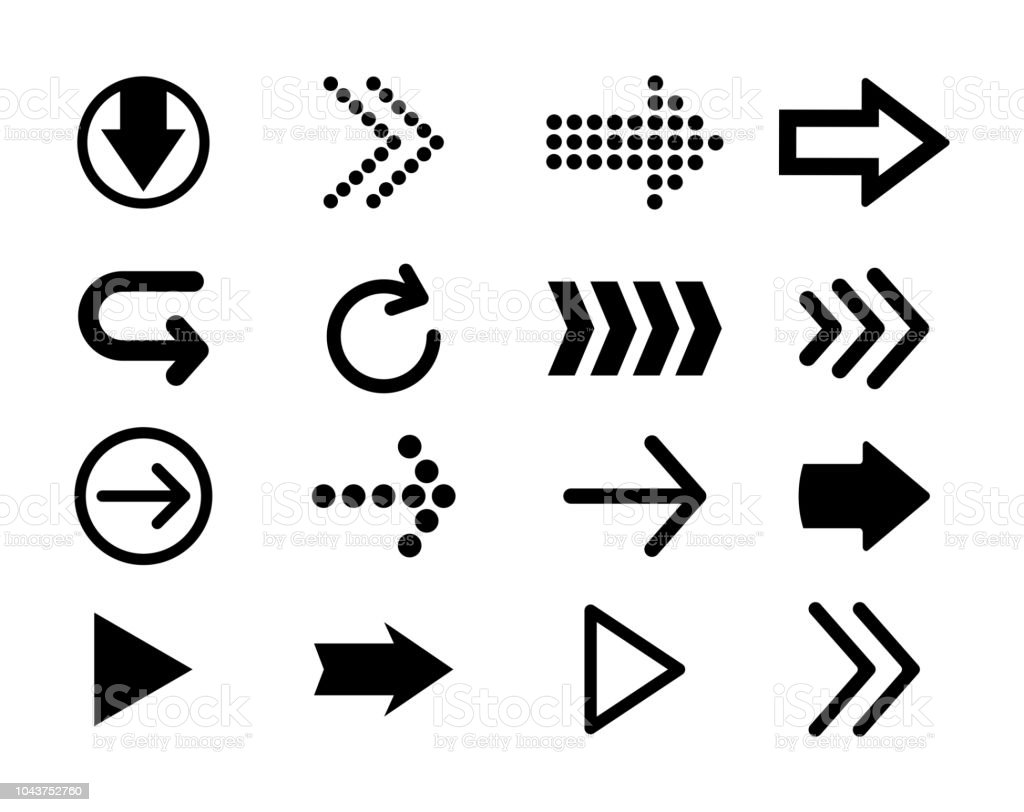 Set Of Black Vector Arrows Arrow Icon Arrow Vector Icon