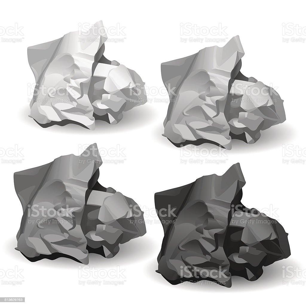Royalty Free Crumpled Paper Texture Clip Art Vector