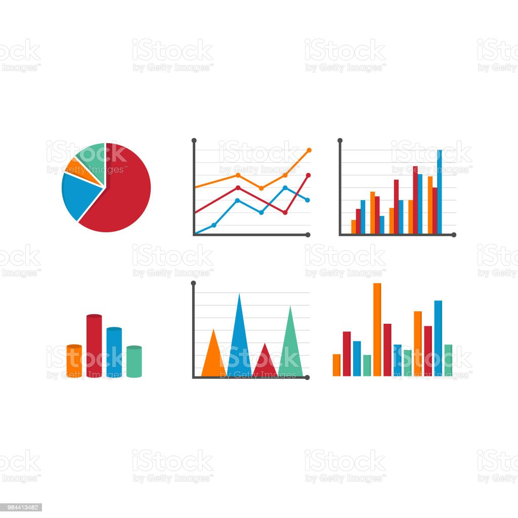 hight resolution of set of data tools finance diagram and graphic royalty free set of data tools finance