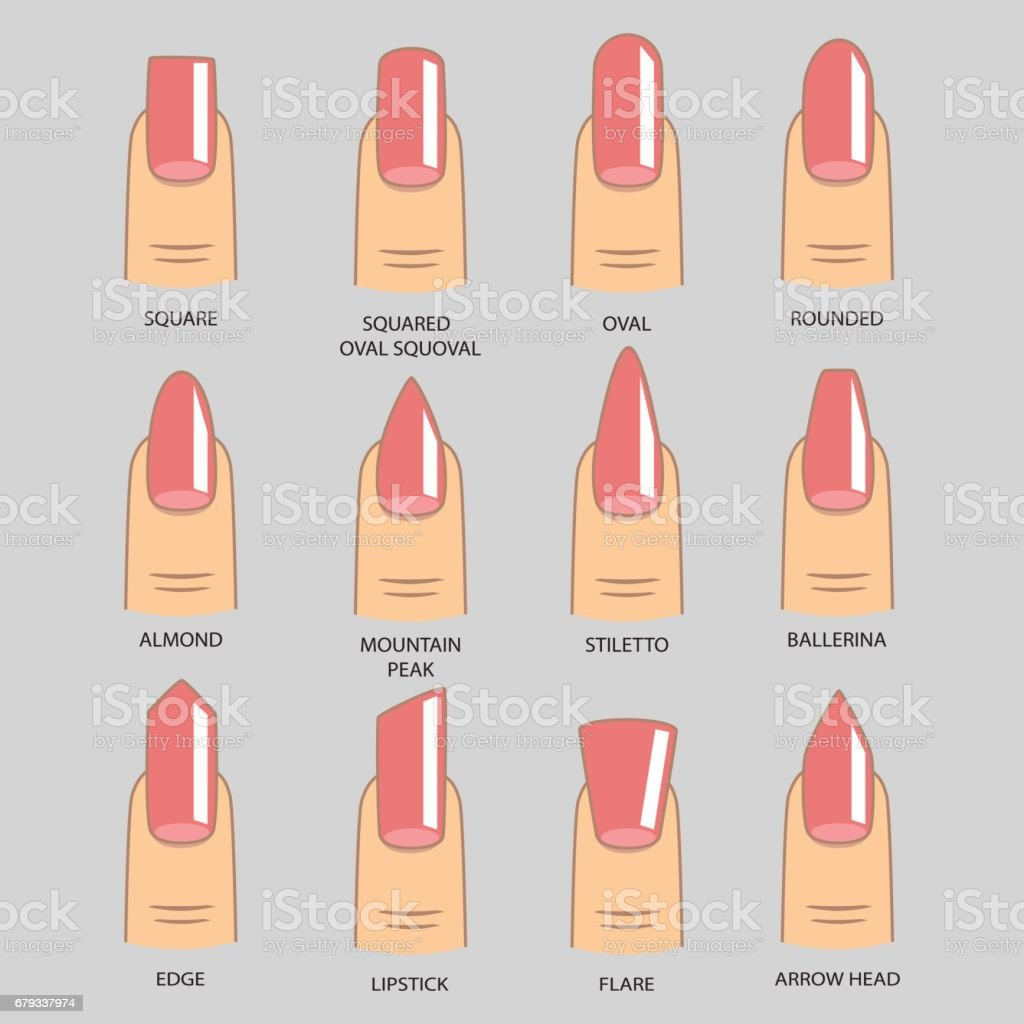 set of shapes nails