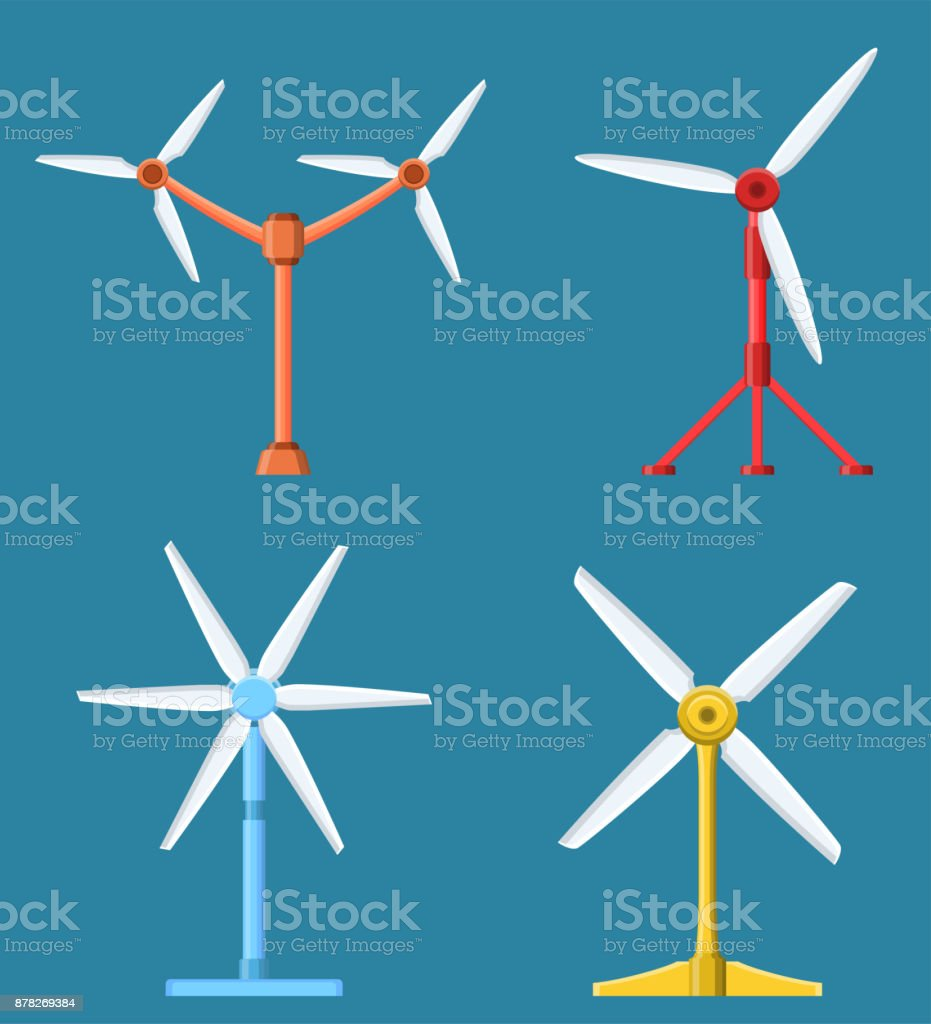 hight resolution of set of different tidal power station rotters royalty free set of different tidal power