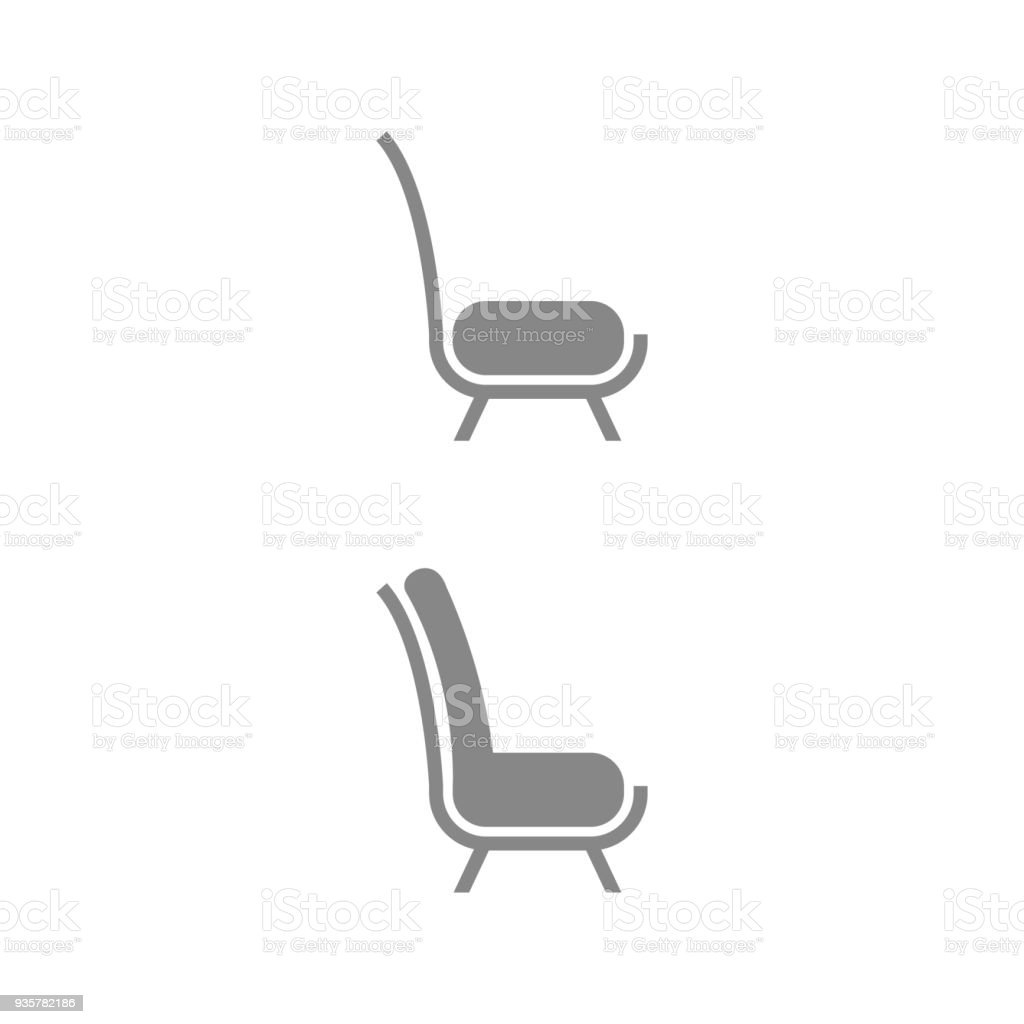 chair design icons folding chairs argos set of furniture stock vector art more images royalty free amp