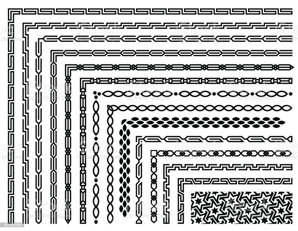 set of geometric seamless