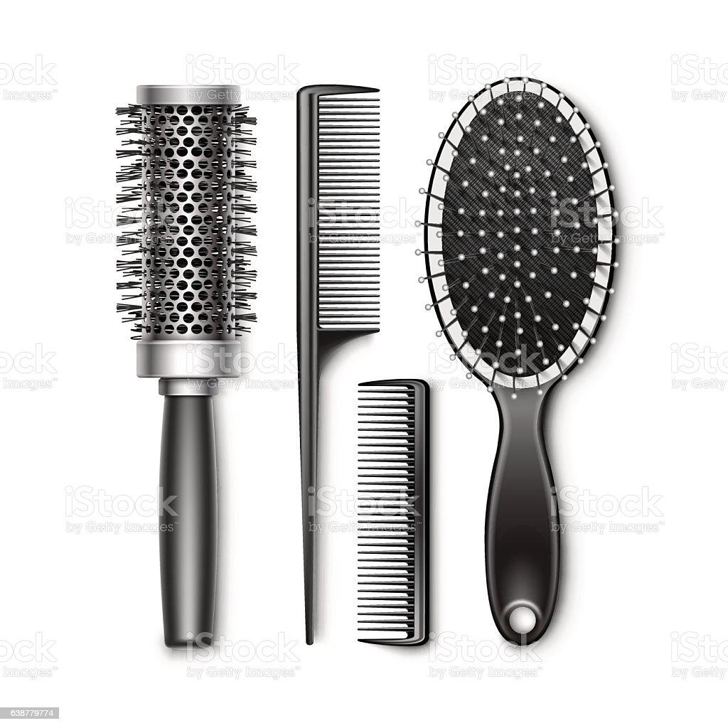 hairbrush illustrations royalty-free