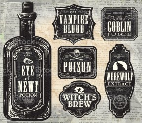 halloween labels printable bottle poison vector potion witch illustrations etiketten clip illustration brew wine flasche istock print stickers hallowe graphic