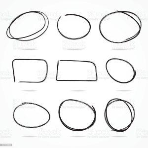 circles sketchy drawn hand istock vector illustration