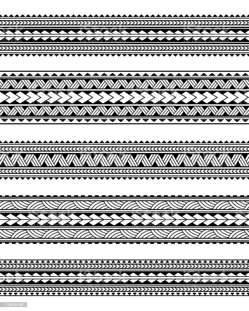 Polynesian Armband Tattoo Stencil : polynesian, armband, tattoo, stencil, Polynesian, Tattoo, Vector, Downloads)