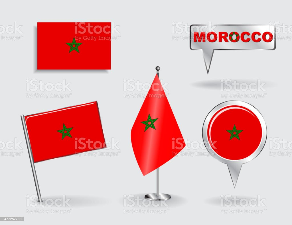 royalty free moroccan flag clip