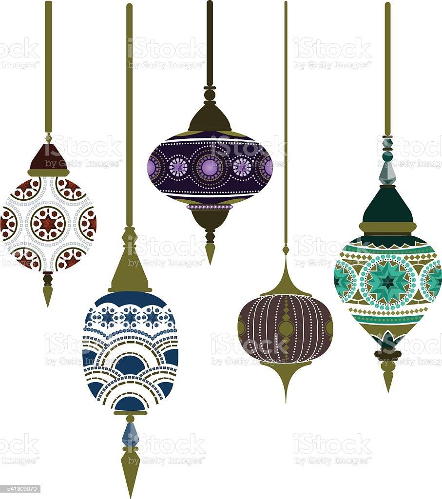 moroccan lantern illustrations