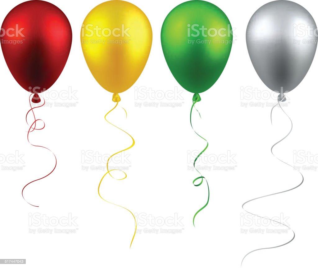 silver balloon clip art vector