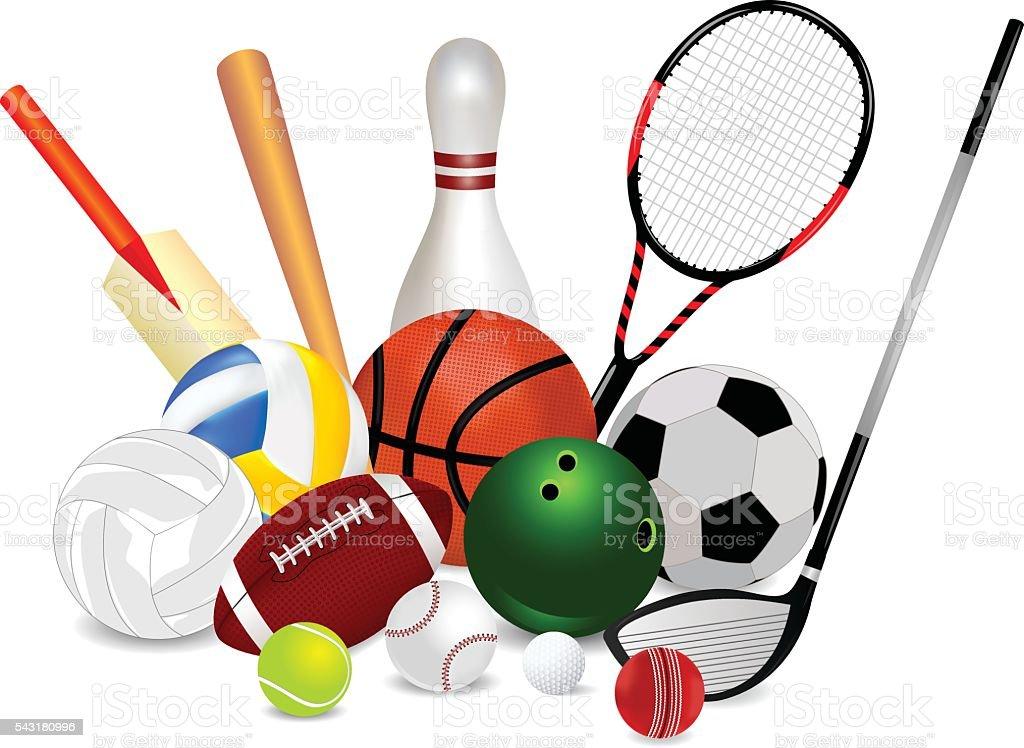 sports equipment illustrations