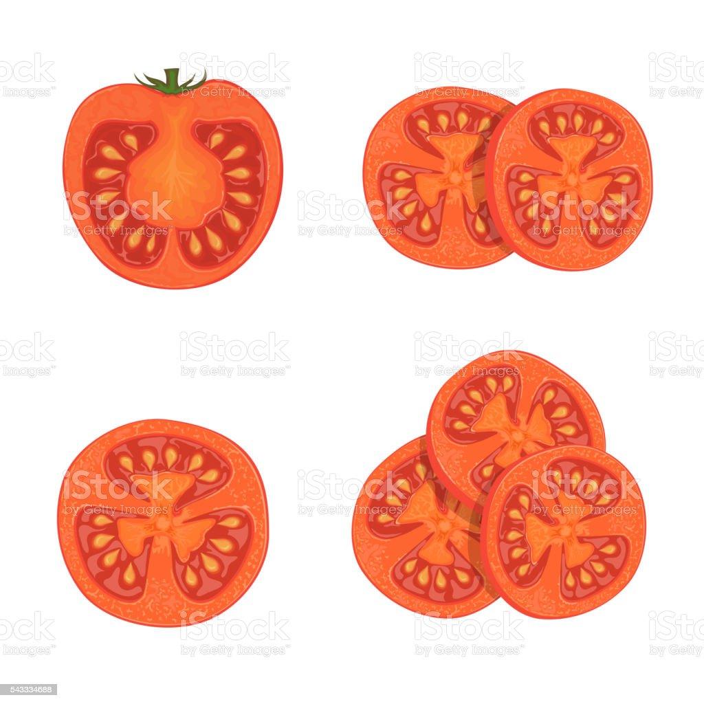royalty free tomato slice clip
