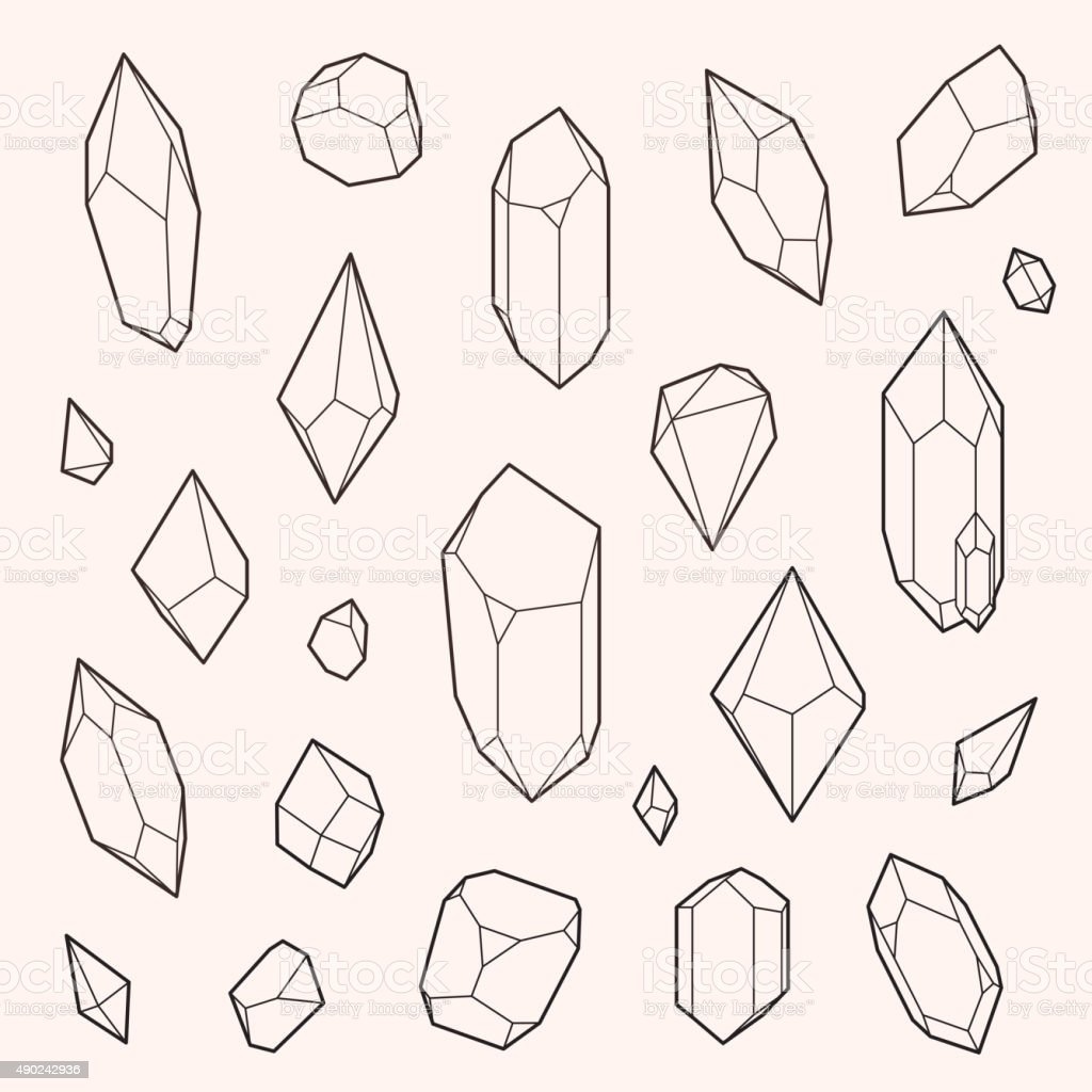 Set Of Vector Crystal Shapes Stock Vector Art & More