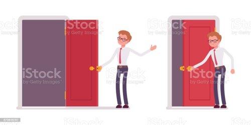 Free when a door closes Vector Art