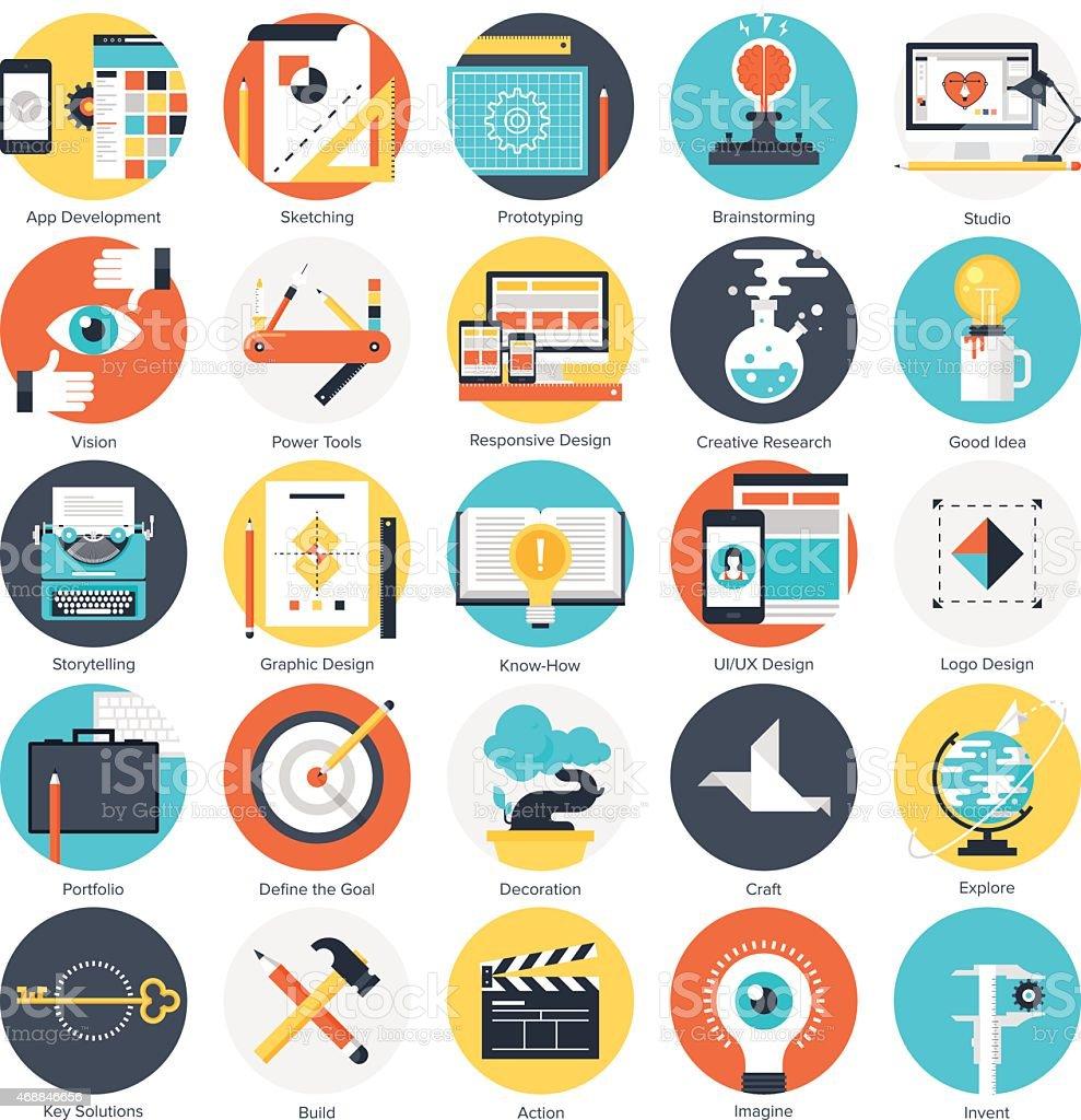 several creative process icons