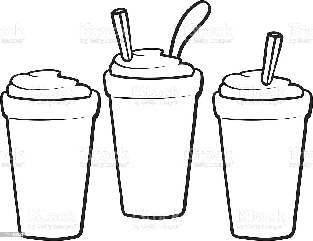 Shakes And Smoothies Line Art Stock Vector Art & More