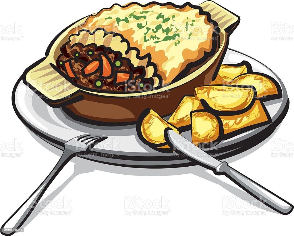 casserole clip art vector