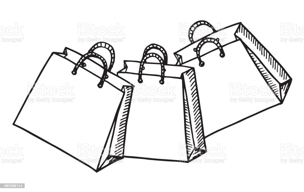Royalty Free Clear Shopping Bag Clip Art, Vector Images