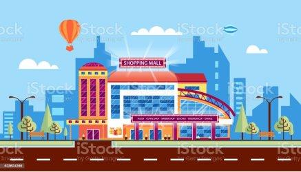 shopping mall vector clip center illustrations illustration cartoons graphics royalty istock