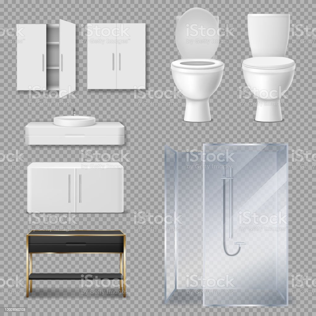 shower cabin toilet bowl and sink for bathroom stock illustration download image now istock