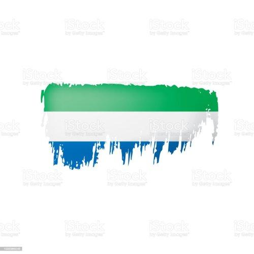 small resolution of bandera de sierra leona vector ilustraci n sobre un fondo blanco ilustraci n de bandera de sierra