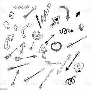 arrow broken vector simple hand drawn arrows illustrations clip oklahoma similar