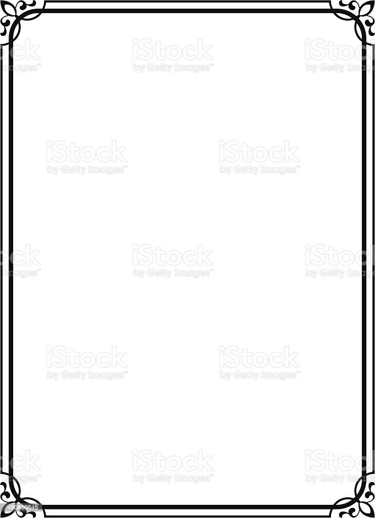 Simple Black Ornamental Decorative Frame Stock Vector Art