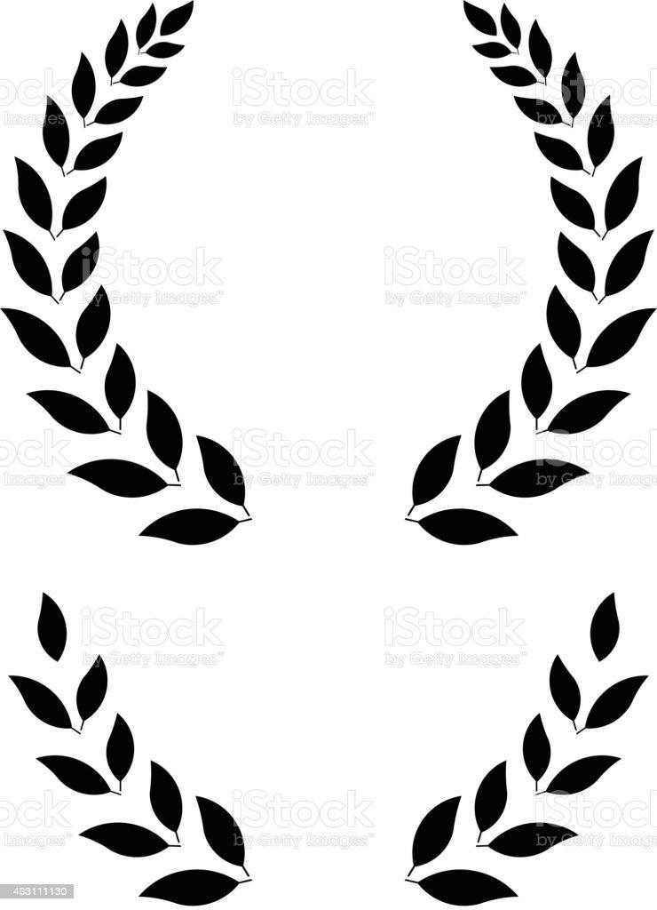 Simple Laurel Wreath Vector Illustration Stock Vector Art