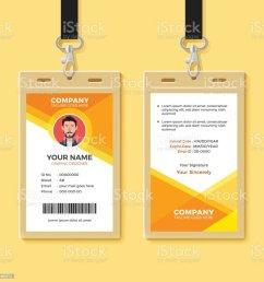 simple orange graphic id card design template illustration  [ 1024 x 1024 Pixel ]