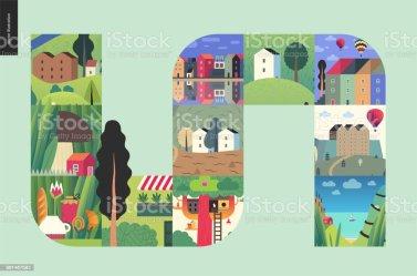 Vetores de Coisas Simples Composição De Casas e mais imagens de Arquitetura iStock