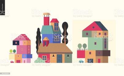 Vetores de Coisas Simples Composição De Casas e mais imagens de Aluguel de casa iStock