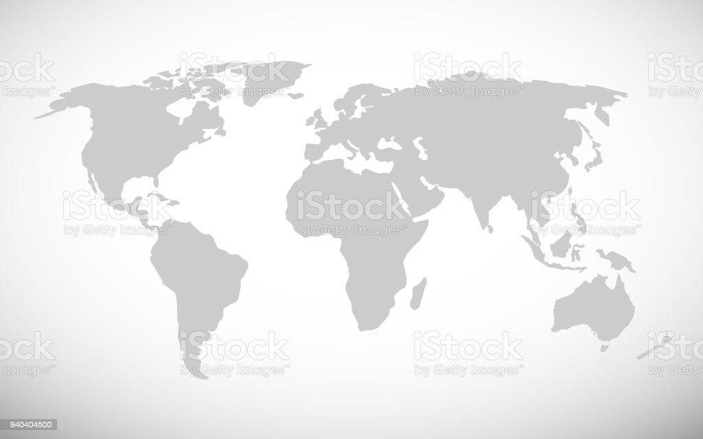 Simple World Map Vector Illustration Stock Illustration