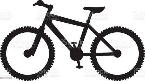 simplified mountain bike silhouette
