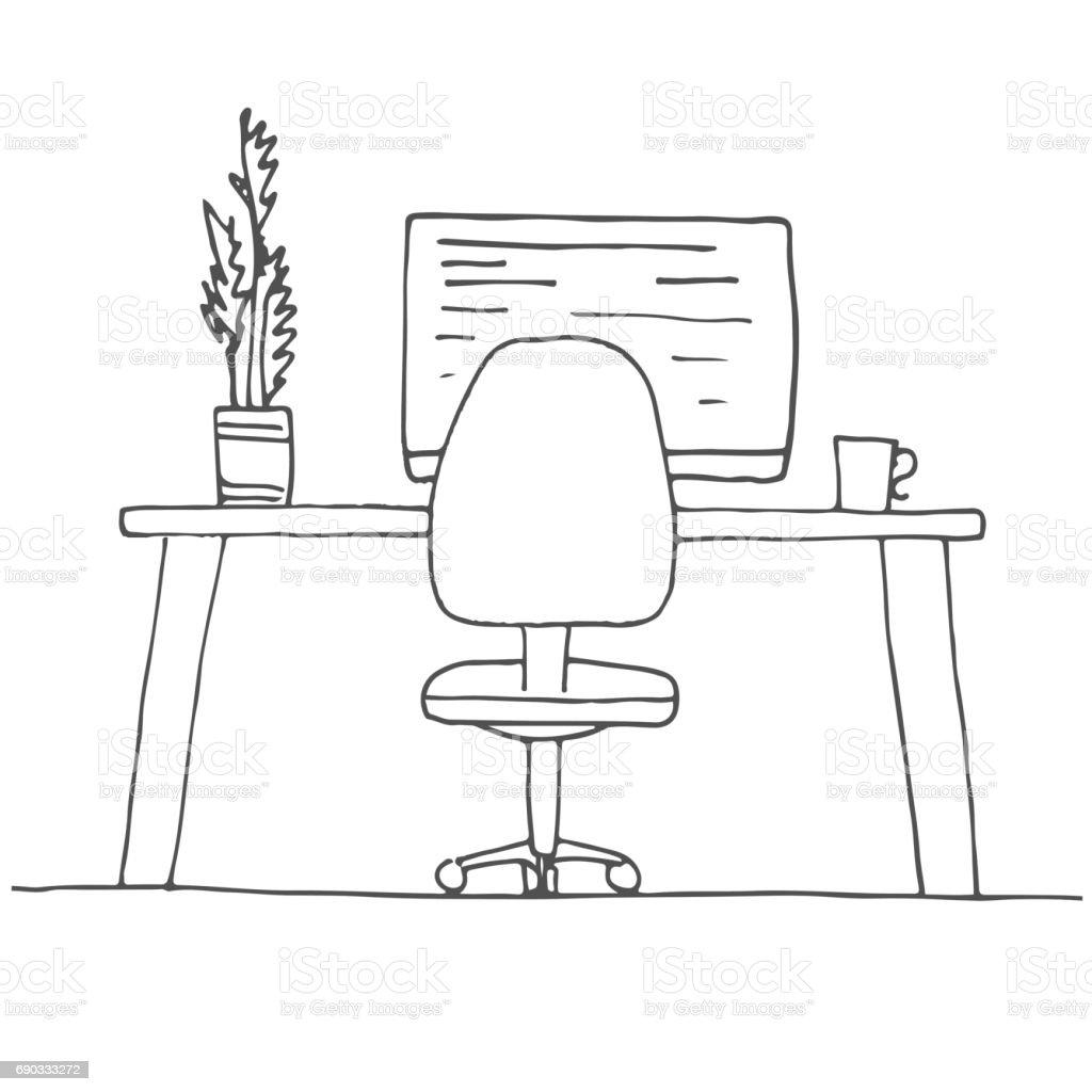 office chair dwg dining room covers ireland a sala de desenho cadeira escritório mesa vários