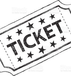 sketch ticket vector art illustration [ 1024 x 796 Pixel ]