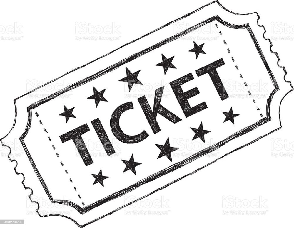 medium resolution of sketch ticket vector art illustration