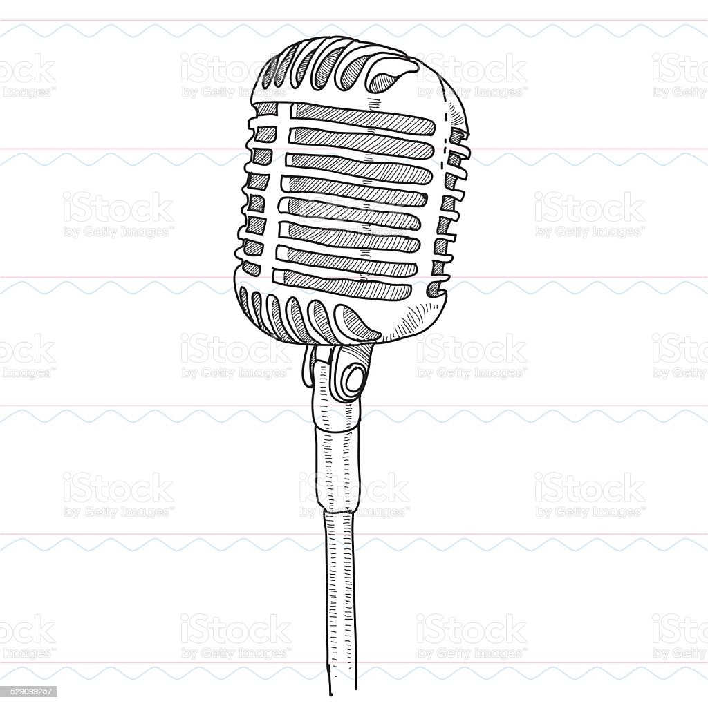 Sketchmicrophone Sound Musict Stock Vector Art & More