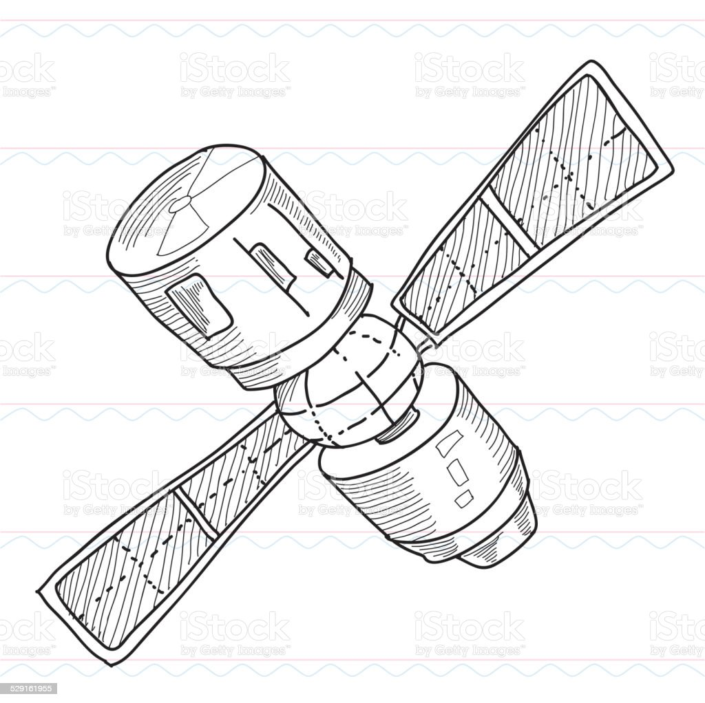 Sketchsatellite Dish Radio Stock Vector Art & More Images