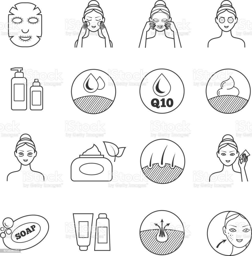 Royalty Free Skin Care Clip Art Vector Images